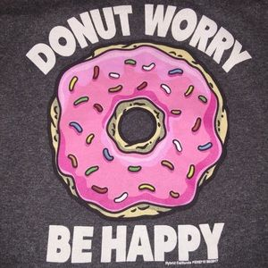 DONUT WORRY BE HAPPY T-Shirt Donut with Sprinkles